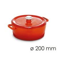 Кастрюля для тушения - Ø 200 мм - оранжевая SMTK200O