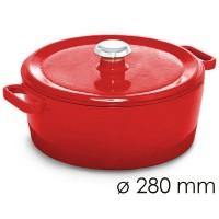 Кастрюля для тушения - Ø 280 мм - красная SMTK280R