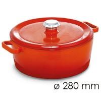 Кастрюля для тушения - Ø 280 мм - оранжевая SMTK280O