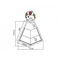 Прилавок угловой 45⁰ (внутренний) KAI45I-M