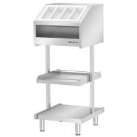 Прилавок для столовых приборов и посуды (стационарная модель) BVI800-BS