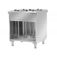 Шкаф для тарелок с подогревом / 120 тарелок - 280 мм BVI800-TN