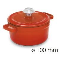 Кастрюля для тушения - Ø 100 мм - оранжевая SMTK100O