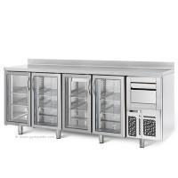 Холодильный стол барный - 2,4 x 0,6 м