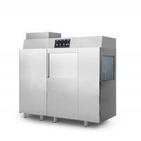 Посудомоечная машина конвейерная, с помпой слива / с помпой моющего средства + сушильная машина