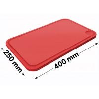 Разделочная доска - 25 х 40 см - красная