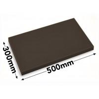 Разделочная доска - 30 x 50 см - коричневая
