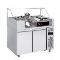 Холодильная рабочая станция (гриль контактный и машина для гамбургеров) - 1,21 x 0,7 м