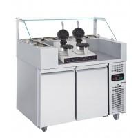 Холодильная рабочая станция (вафельница двухпостовая) - 1,21 x 0,7 м
