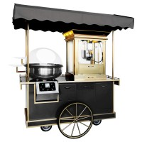 Прилавок + апарат для солодкої вати + машина для попкорну