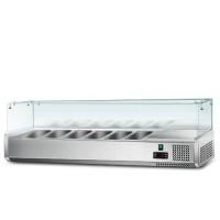 Холодильна вітрина - 1,4 x 0,43 м (6 x GN 1/3)