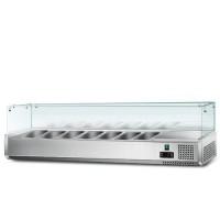 Холодильна вітрина - 1,5 x 0,43 м (7 x GN 1/4)