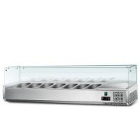 Холодильна вітрина - 1,6 x 0,43 м (7 x GN 1/4)