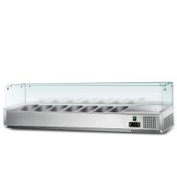 Холодильна вітрина - 1,6 x 0,4 м (7 x GN 1/3)