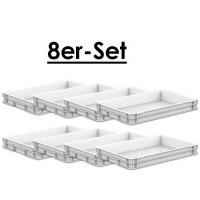 8 контейнерів для тіста (комплект), Ш600xГ400xВ77мм