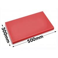 Обробна дошка - 30 x 50 см - червона