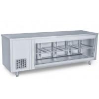 Холодильный стол барный - 2,3 x 0,7 м