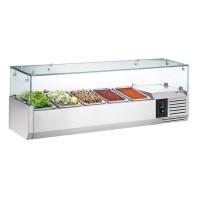 Холодильная витрина - 1,2 x 0,34 м (5 x GN 1/4)