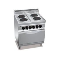Плита электрическая, 4 конфорки - 10,4 кВт + духовой шкаф электрический - 7,5 кВт