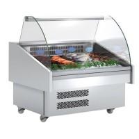 Витрина холодильная для рыбы - 1,28 x 0,91 м