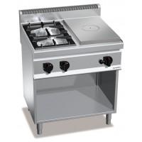 Газовая плита - 10,5 кВт + жарочная поверхность - 7 кВт