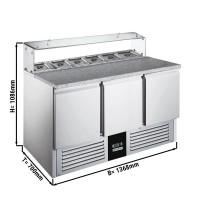 Саладетта / холодильный стол для пиццы - 1,36 x 0,7 м
