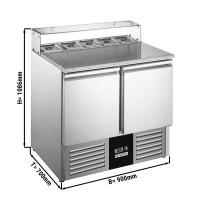 Саладетта / холодильный стол для пиццы - 0,9 x 0,7 м