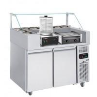 Холодильная рабочая станция (гриль для хот-догов и устройство для приготовления сосисок) - 1,21 x 0,7 м