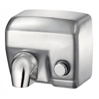 Сушка для рук з кнопкою - сталь