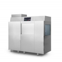 Посудомийна машина конвеєрна, з помпою зливу / з помпою миючого засобу + сушильна машина