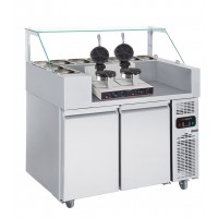 Холодильна робоча станція (Вафельниця двухпостова) - 1,21 x 0,7 м